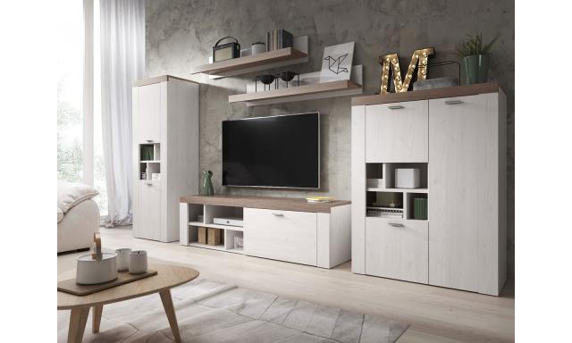Dizajnová obývacia stena Amelie, smrekovec / sonoma