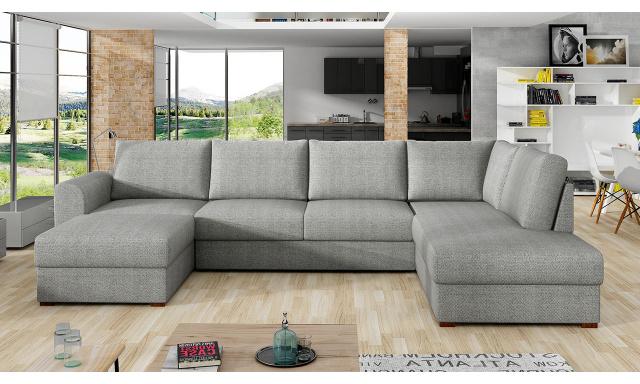 Moderná sedacia súprava Wilson, sivá
