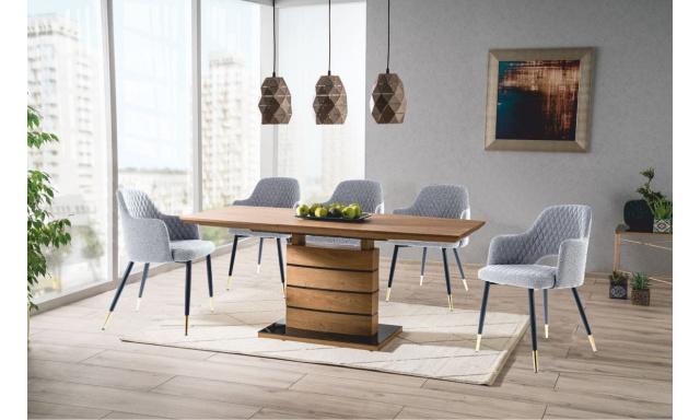 Jedálenský set Lenny (rozkladací stôl + 4x stoličky)