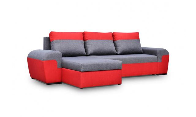 Moderná sedacia súprava Moreton, Červená