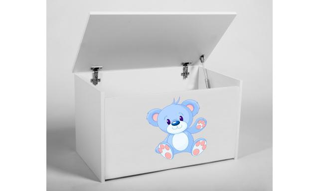 Box na hračky Denia, biely + medvedík