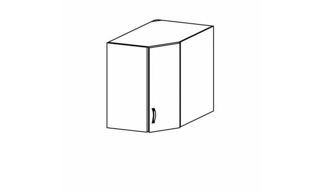 SYCILIE horná skrinka 60cm - rohová
