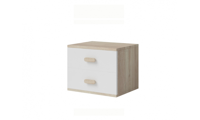 Nočný stolík Stone 22, sonoma / biela