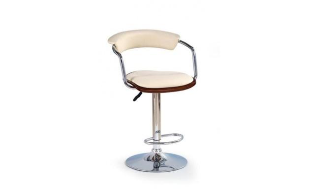 Barová stolička H-19 čerešňa / béžová