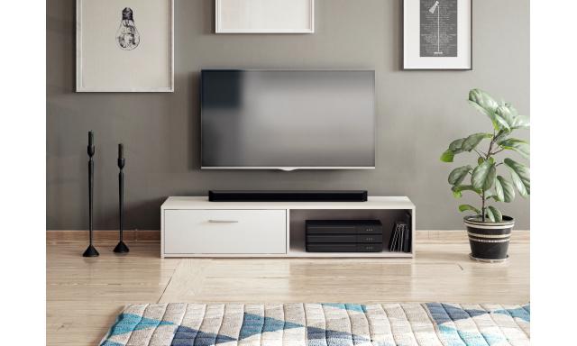 Moderný TV stolík Savana 140cm, biely