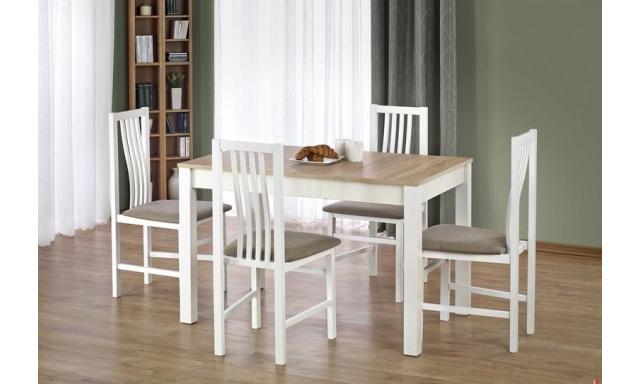 Moderné jedálenský set H387, biely / sonoma