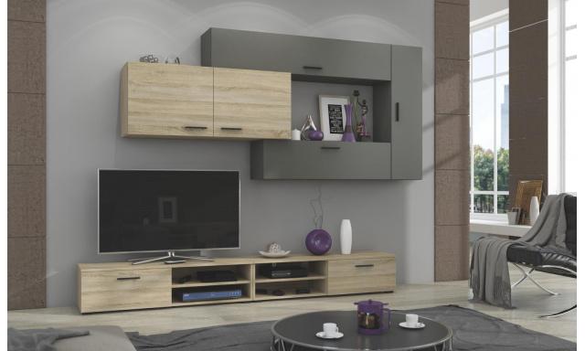 Moderná obývacia stena Java, sonoma