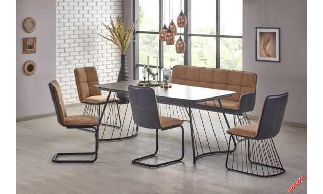 Moderné jedálenský set H2001 (Stôl + 4x stoličky + lavica)