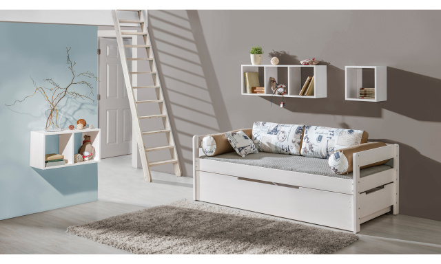 Detská posteľ Bardot s prístelkou z masívu