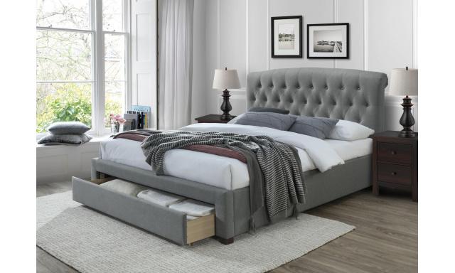Čalúnená posteľ s úložným priestorom Avon, 160x200cm