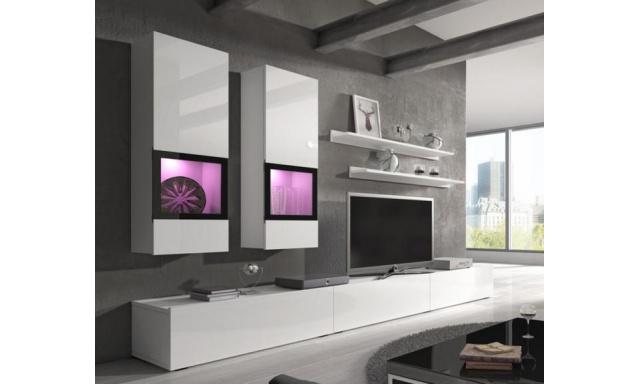 Luxusné obývacia stena Borgo, biela