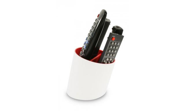 Stojan na diaľkové ovládače J-ME Tilt Remote Tidy, biely / červený