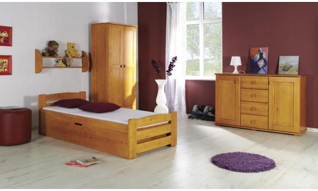 Detská posteľ Loco, masív