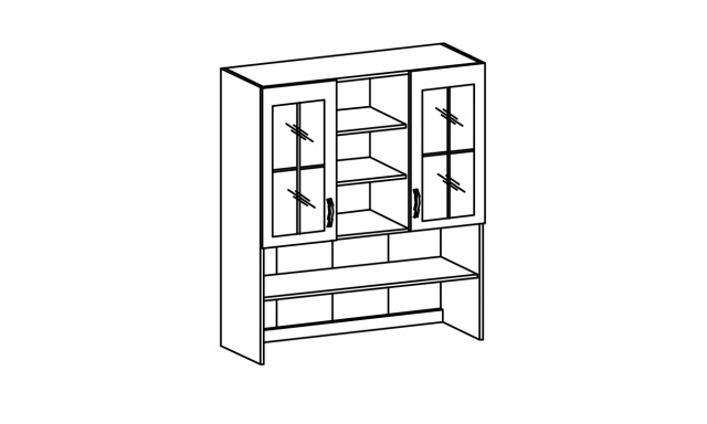 REVAL horná skrinka 120cm - vitrína