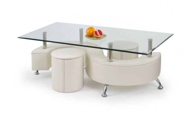 Konferenčný stôl Norco 4, biely