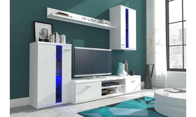 Moderná obývacia stena Lumen, biela