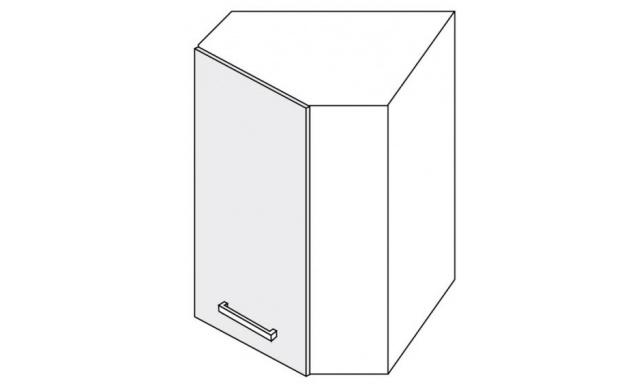 PLATINUM horná skrinka 60cm W9 / 60 rohová