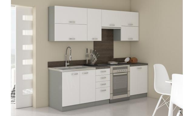 Luxusné kuchyne Blanka, biely lesk