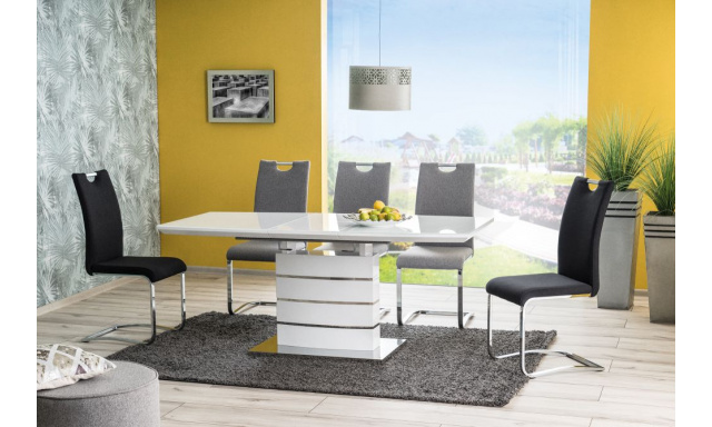 Lakovaný rozkladací jedálenský stôl Lemon, biely