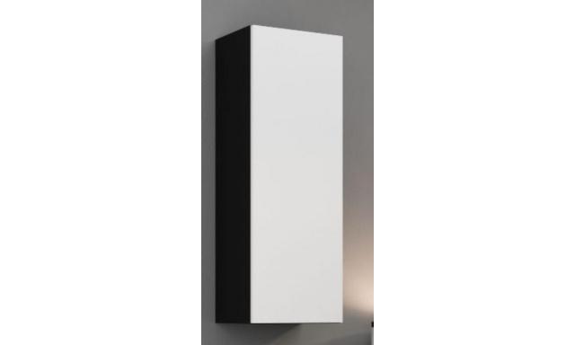 Závěsná skřínka Igore 90 plná, černá/bílý lesk