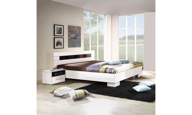 Biela manželská posteľ Dublin A 160x200cm