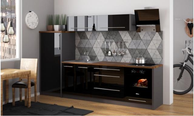 Luxusné kuchynská linka Platinum K, vysoký lesk!