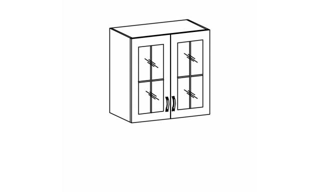 REVAL horná skrinka 80cm - vitrína