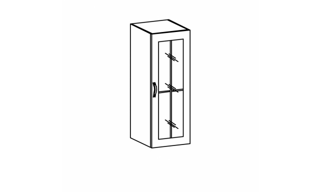 REVAL horná skrinka 40cm - vitrína vysoká, pravá