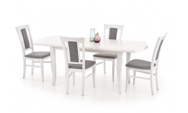 Bílý jídelní stůl Fredie