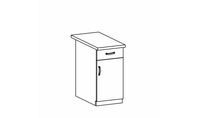 REVAL dolná skrinka 40cm - 1 zásuvka, pravá