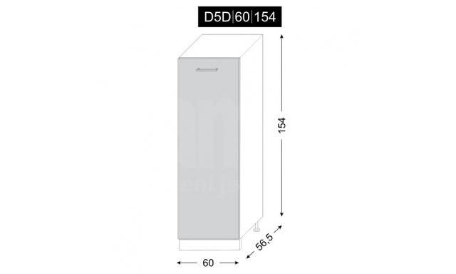 PLATINUM dolná skrinka 60cm D5D / 60
