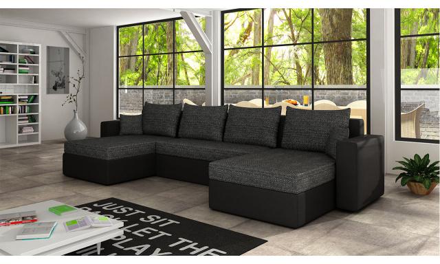 Moderná sedacia súprava Ramon, čierna