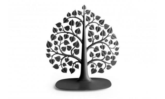 Stojan na šperky Qual Bodhi Accessories Tree, čierny