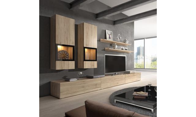 Luxusné obývacia stena Borgo, dub san remo