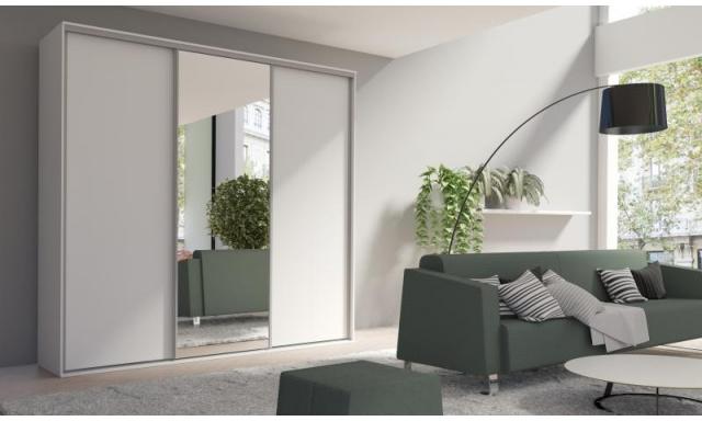 Skriňa Girona 254cm, biela + 1x zrkadlo